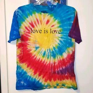 Love Is Love Rainbow Tie-Dye T-Shirt